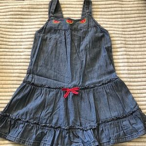 Crazy 8 Chambray Sundress Dress With Watermelons